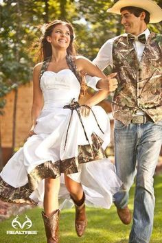 Perfect! Now we won't have to change after our wedding before we go hunting!