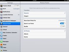 Change Up Your #iPad Picture Frame #Slideshow Settings #iOS Tips