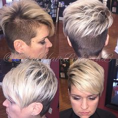 Great Short Pixie Haircuts for Fine Hair Super Short Hairstyles& New Trends Short Asymmetrical Haircut, Short Pixie Haircuts, Short Hair Cuts, Short Hair Styles, Pixie Cuts, Face Shape Hairstyles, Funky Hairstyles, Short Hairstyles For Women, Haircut For Square Face