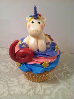 Unicorn rainbow cupcake done by Bunnycakes November 2013