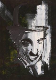 "Saatchi Art Artist Florin Coman; Painting, ""Charlie Chaplin Portrait 2"" #art"