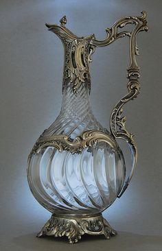 Paris,  c.1890  -  Baccarat Glass - Silversmith: Roussel Eugene Doutre c. 1865-1911, Rue de Braque