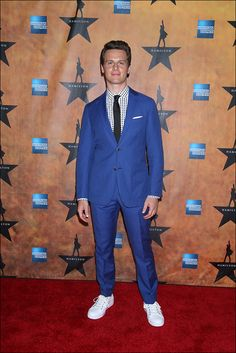 Jonathan Groff  - Plays King George.... -Hamilton, Lin-Manuel Miranda's acclaimed new musical that fuses the contemporary and classic worlds to tell the story of America's Founding Father Alexander Hamilton, officially opens on Broadway Aug. 6 at the Richard Rodgers Theatre (former home of Miranda's Tony-winning In the Heights).