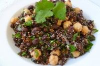 Domino Quinoa Salad  Black Quinoa with Garbanzo Beans and Balsamic Lime Dressing