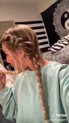 Hair Up Styles, Medium Hair Styles, Easy Hairstyles For Long Hair, Diy Hairstyles, Gorgeous Hairstyles, Baddie Hairstyles, School Hairstyles, Aesthetic Hair, Stylish Hair