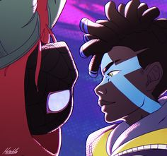 Smol fanart after I found out not only the spells and overall aesthetic of True Damage is inspired by Spiderman into the spiderverse but also the two singers dubbing Ekko made songs for the movie! Clearly one of the best animated movies out there and an Dope Cartoons, Dope Cartoon Art, Cartoon Art Styles, Ekko League Of Legends, Champions League Of Legends, Miles Morales Spiderman, Character Art, Character Design, Black Cartoon Characters