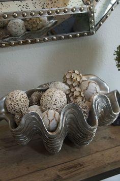 coastal grey and silver #home #decor