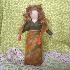 Needle Felted Fall Lady in a Shawl
