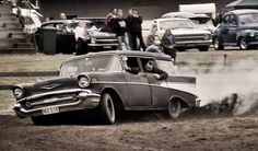 .1957 Chevy Wagon in action.