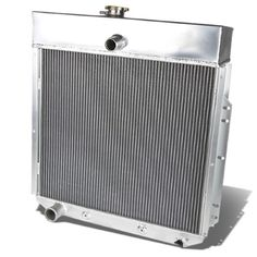 For 64-67 Ford Galaxie 500/500XL Full Aluminum 3-Row Racing Radiator - 3 Gen 65 66