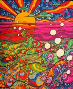 the different elements of the image give it a sense of balance. Much more than the average psychedelic illustration.Layering the different elements of the image give it a sense of balance. Much more than the average psychedelic illustration. Psychedelic Art, Psychedelic Pattern, Psychedelic Experience, 60s Art, Hippie Art, Art Design, Art Plastique, Trippy, Doodle Art