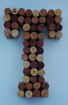 10 Wine Cork Letters T. Made from over 50 wine by designsbyjillis