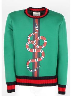 Gucci Man's Knitwear In Green Gucci Gucci, Gucci Men, Varsity Sweater, Men Sweater, Gucci Outfits, Long Sleeve Sweater Dress, Men Design, My T Shirt, Jacket Style