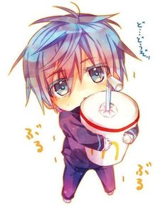 Kuroko Tetsuya chibi - Kuroko no Basket Kawaii Anime, Cute Anime Chibi, Kawaii Chibi, Cute Anime Boy, Manga Art, Manga Anime, Anime Art, Kuroko No Basket, Anime Boys