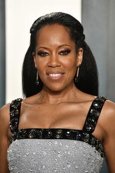 Black Female Actresses, Afro, Shirley Chisholm, New Jack Swing, Regina King, Black Celebrities, Celebs, Half Updo, Vanity Fair Oscar Party
