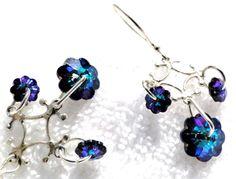 ForgetMeNot Swarovski Earrings by jlisiecki on Etsy, $17.00