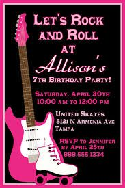 Download Now FREE Template Rock And Roll Birthday Invitations