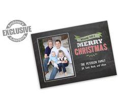 Wishing You...Chalkboard 5x7 Christmas Photo Card