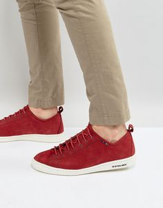 Get this Ps By Paul Smith's sneakers now! Click for more details. Worldwide shipping. PS by Paul Smith Miyata Nubuck Trainers in Red - Red: Trainers by PS By Paul Smith, Suede upper, Lace-up fastening, Padded for comfort, PS branded sole, Moulded tread, Wipe with a soft cloth, 100% Real Leather Upper. Designed in the UK, PS by Paul Smith bears all the hallmarks of Sir Paul Smith�s individual and quintessentially British style. Signature prints are spread across slim fit shirts, while…