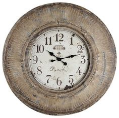 The Kensington 29.5 in. Heavily Distressed Oversized Wall Clock is a perfect cho traditional clocks