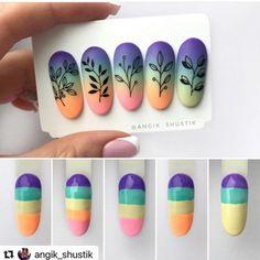 Nail Art Diy, Easy Nail Art, Diy Nails, Cute Nails, Galaxy Nails, Gradient Nails, Acrylic Nails, Nailart, Nail Art Designs Videos