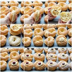 Joseph's Pastries {Zeppole di San Giuseppe} - Italian Recipe Book - 48 Classic Italian Recipes That Make Us Want to Quit Our Jobs . Puff Pastry Desserts, Pastry Recipes, Mini Desserts, Cake Recipes, Dessert Recipes, Choux Pastry, Italian Pastries, Sweet Pastries, Italian Desserts