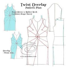 Do you fancy a weekend pattern making challenge! Pattern Puzzle - Twist Overlay Don't forget to use two-way stretch knit fabric. Pattern Drafting Tutorials, Easy Sewing Patterns, Vintage Patterns, Clothing Patterns, Pattern Cutting, Pattern Making, Knitting Blocking, Suit Pattern, Free Pattern