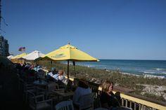 Shuckers Restaurant overlooking the Beach on Hutchinson Island