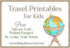 Free Travel Printables For Kids: Suitcase Craft