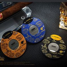 Material: Copper Body, Stainless Steel Size : Hole diameter: and quickPocket size, Convenient to carry with Premium Cigars, Cigar Accessories, Yellow Sky, Grey And Gold, Cigar Cutter, Carbon Fiber, Blade, Copper