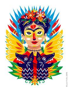 """""""Frida & the Xoloitzcuintles"""" by Luis Pinto, 2016."""