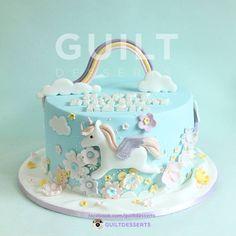 Unicorn Cake - Cake by guiltdesserts Pretty Cakes, Cute Cakes, Beautiful Cakes, Torta Baby Shower, Little Pony Cake, 4th Birthday Cakes, Girly Cakes, Novelty Cakes, Savoury Cake