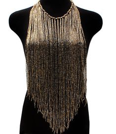Shade Body Necklace gold