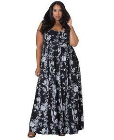 Sleeveless floral maxi  http://www.xplussize.com/summer-dresses/cutest-plus-size-summer-dresses-curvy-women