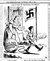 The American Papers that Praised Hitler Political Events, Political Cartoons, Propaganda Art, History Projects, History Facts, World History, World War Two, Historical Photos, American History