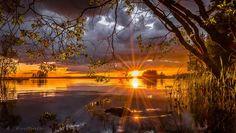 Landscape in Finland Big Lake, Beautiful Sunset, Nature Photos, Old Town, Norway, Beautiful Pictures, Waterfall, Scenery, Country Roads