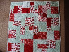 Baby Quilt-like the pattern, but in different colors