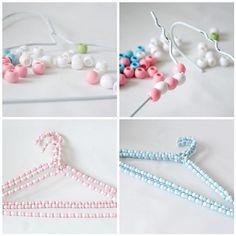 Hand beaded hangers