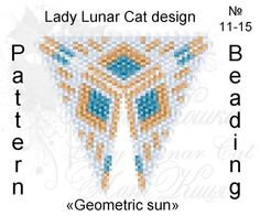 Schemes for the beading by Lady Lunar Cat  Triangle Peyote pattern Geometric sun scheme for beading  Ready for download scheme for beading. This