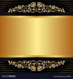 Gold background vector image on VectorStock Gold And Black Background, Blue Texture Background, Black Backgrounds, Wallpaper Backgrounds, Free Vector Images, Vector Free, Free Paper Texture, Aqua Wallpaper, Boarder Designs