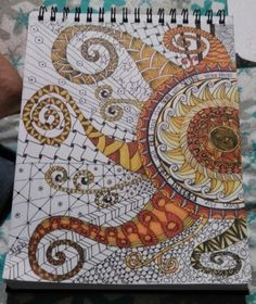 """""""Even the darkest night will end and the sun will shine"""" ~ Victor Hugo inspired zentangle  This would be an Amazing mosaic!"""