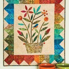 GO! Rainbow Bouquet Wall Hanging Quilt Pattern by Edyta Sitar #accuquilt