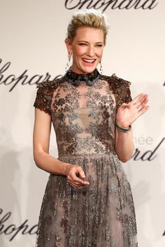 Cate Blanchett apresenta evento da Chopard no Festival de Cannes 2014 Cate Blanchett, Gucci Gown, Valentino Gowns, Celebrity Red Carpet, Celebrity Style, Celebrity Dresses, Blake Lively Cannes, Cannes Film Festival 2014, Gown Pictures