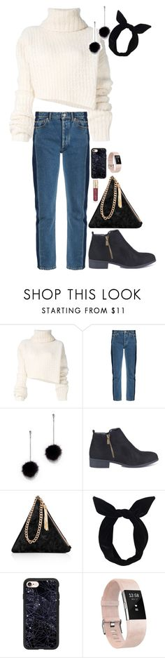 """""""Untitled #675"""" by cupkatyk ❤ liked on Polyvore featuring Ann Demeulemeester, Balenciaga, New York & Company, Street Level, Lulu in the Sky, Casetify, Fitbit and Smith & Cult"""