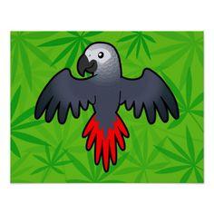 african grey parrot cartoon - Google Search