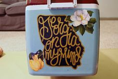 "Painted cooler ""Georgia on my mind"""