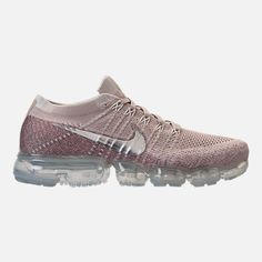 online retailer fff30 92d34 Nike Air VaporMax Flyknit Running Shoes in String Chrome Sunset Glow Taupe