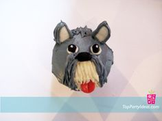 Ranked as one of the most popular dog breeds in the world, the Miniature Schnauzer is a cute little square faced furry coat. Puppy Dog Cupcakes, Cupcakes For Dogs Recipe, Puppy Cake, Schnauzer Breed, Standard Schnauzer, Miniature Schnauzer Black, Mini Schnauzer, Horse Birthday, Birthday Ideas