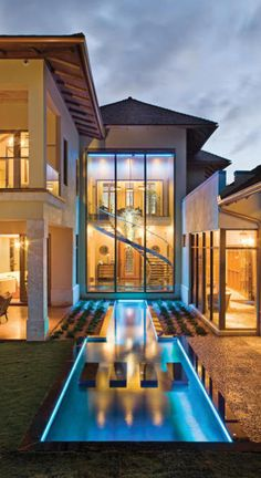 Such a beautiful, amazing home and pool.