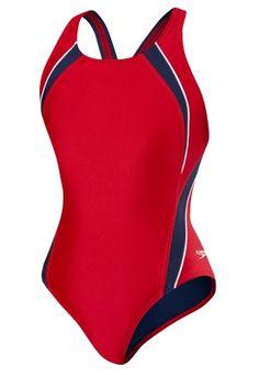 Speedo Womens Off the Grid Splice Endurance Pulse Back Performance Swimsuit